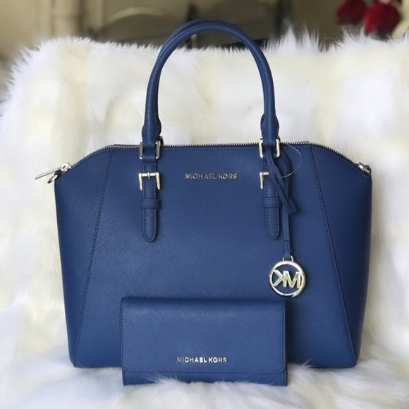Michael Kors Handbags - Michael Kors LG Ciara Satchel with Matching Wallet